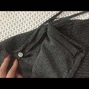 Agnes B. Skirts - Agnes b. Black White PolkaDot Pleat Wrap Miniskirt
